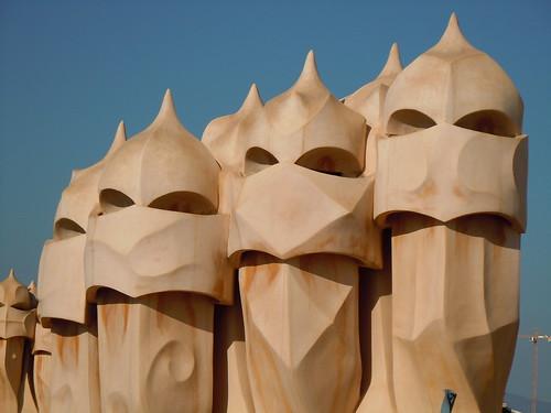 カサミラの屋上にて ガウディ建築