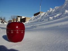 Time For Some Snow! (agent j loves nyc) Tags: newyorkcity winter snow snowstorm queens snowfall blizzard timer longislandcity 2010 snowpocalypse snowmageddon snomg appletimer
