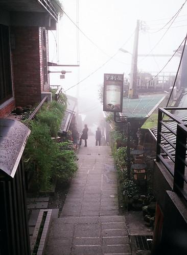 九份早上的濃霧