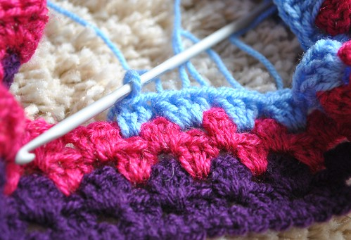 The start of the Big Happy blanket