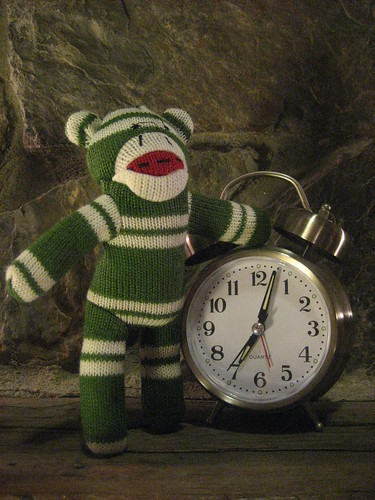 Sock Monkey waits for the new year