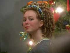 Molly After the Show II (edenpictures) Tags: christmastree molly picnik irishdancing museumofscienceindustry christmasaroundtheworld mcnultyirishdancers mcnultyschoolofirishdance