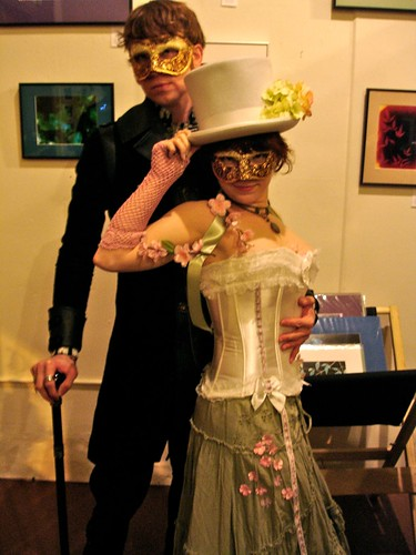 Nick & Me at the New Year's Eve Steampunk Masquerade