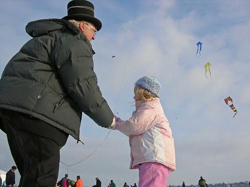 Winter Kite Festival 2008 Mr. Kite and friend