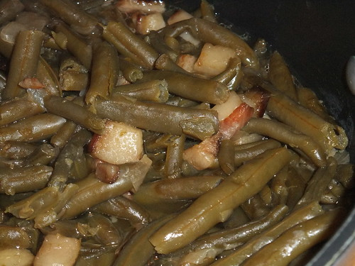 Green Beans with Jowl Bacon
