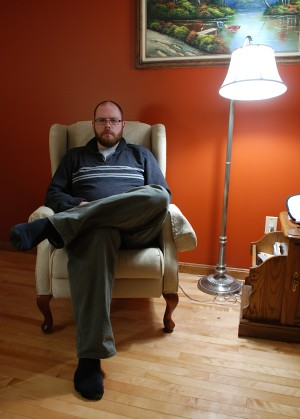 dano's formal armchair portrait