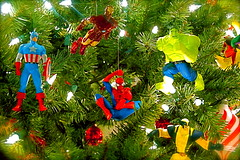 Marvelous Christmas Tree (JD Hancock) Tags: christmas comics spiderman ironman christmastree cc ornament comicbooks hulk char captainamerica marvelcomics avengers wolverine jdhancock