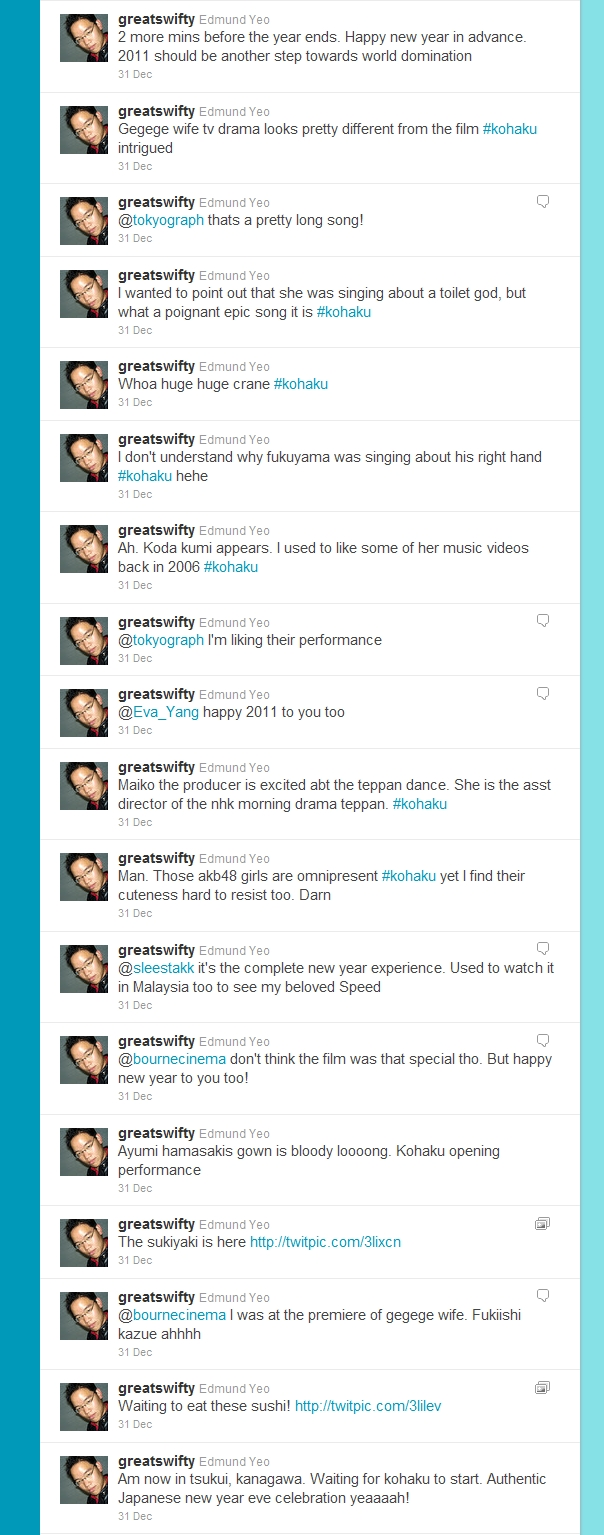 My tweets on Kohaku on 31 Dec 2010