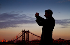 Spirit of A Photographer (bijoyKetan) Tags: travel sky newyork colors silhouette bokeh dusk brooklynbridge aftab tamron1750mm