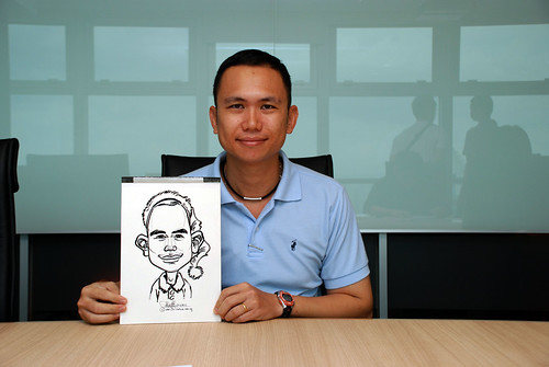 Caricature live sketching for Vopak Christmas Party 2010 - 6