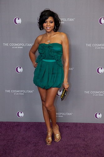 Actress Taraji P. Henson at The Cosmopolitan Grand Opening and New Year's Eve Celebration