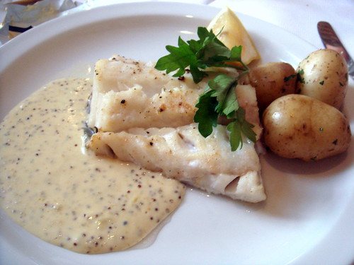 Roasted Cod with Mustard Sauce