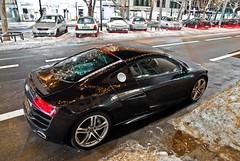 R8 V10 (KlausKniehase / KneeRabbit) Tags: brown snow berlin night nikon nightshot audi supercar v10 sportscar r8 d60 1685mm