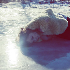(yyellowbird) Tags: winter snow ice girl fur sleep cari
