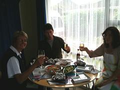 チヒロの家で食事