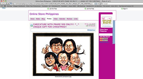 Family caricature artwork stolen by onlinestorephgroup.multiply.com
