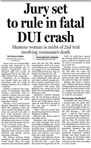 Jury Set to Rule in Fatal DUI Case