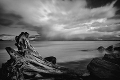 Raindrops Over Astoria (david.bardes) Tags: clouds oregon river long exposure pentax fort stevens columbia driftwood nd astoria density neutral warrenton nd400 k20d