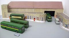 Dorking bus garage diorama (kingsway john) Tags: ds dorking bus garage kingsway models station london transport mb rt rf card kits 176 scale diorama londontransportmodel model oo gauge miniature