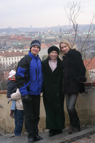 Will, 20, Deb, and Christina, 15, in Prague during one of our unforgettable experiences from figure skating while in the Czech Republic for Will's Junior Grand Prix Final, November 2005.