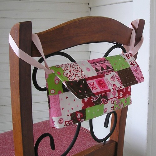 "Patchwork Valentine Mailbox featuring ""Love is in the Air"" by Deb Strain for MODA."