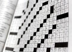 11/365: Awe! Slashed! Than! Soon! (joyjwaller) Tags: blackandwhite japan print tokyo words columns crosswordpuzzle remnant project365 wordnerd nicotinegumsubstitute