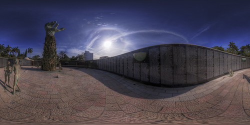 Miami Beach Holocaust Memorial - Equirectangular Projection