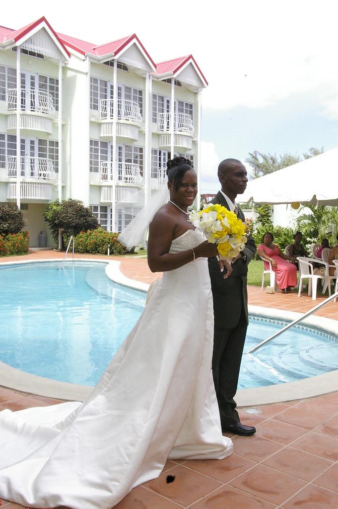 Palm Haven Wedding Poolside
