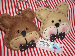 Lembrancinha Maternidade do P.H (ARTEIRA DEMAIS) Tags: lembrana feltro urso maternidade marrom chaveiro ursinho lembrancinha po arteirademais