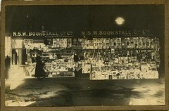 Sydney bookstall (Crafty Dogma) Tags: 1920s occupational bookstall vintagephoto vintagesydney