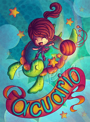 Acuario, TU Magazine (Anita Mejia) Tags: illustration zodiac horoscope acuario ilustracion chocolatita anitamejia tumagazine