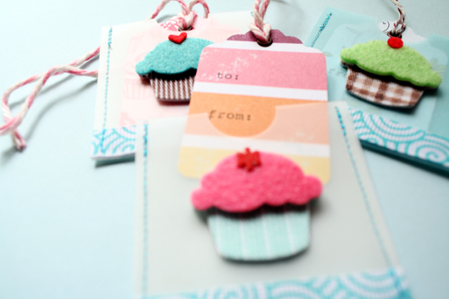 *Cupcake Tags - to&from*