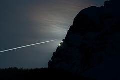 Verso la luce (scarpace87) Tags: sunset sky sun mountain dark airplane rocks wake tramonto aircraft jet mount explore cielo monte sole roccia montagna aereo nopostproduction scuro scia pelmo sanvitodicadore tambres