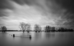 Very High water River Rhine, Heteren Netherlands II (Kees Smans) Tags: blackandwhite art water netherlands fineart nederland nd highwater rijn uiterwaarden gelderland dikes rivier longtimeexposure riverrhine floodplain dijken daytimelongexposure hoogwater heteren overbetuwe blackandwhitefineart bwnd110 keessmans 2010keessmans blackandwhitelongtimeexposure wwwbwfineartcom gettyimagesbeneluxq2