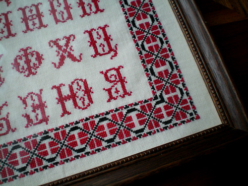 Russian Sampler - finished & framed