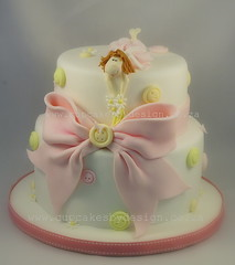 First Birthday Cake (Dot Klerck....) Tags: cake southafrica buttons capetown bow girlscake dotcupcakesbydesign