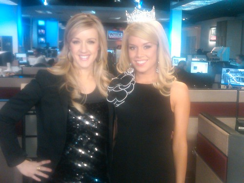 Megan Alexander of Inside Edition with Miss America 2011