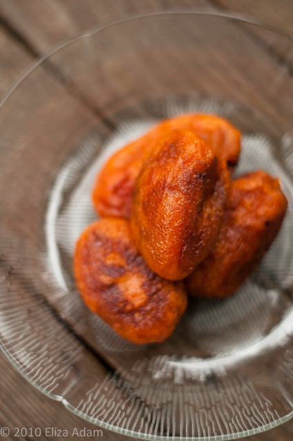 Fried sweet potato dumplings