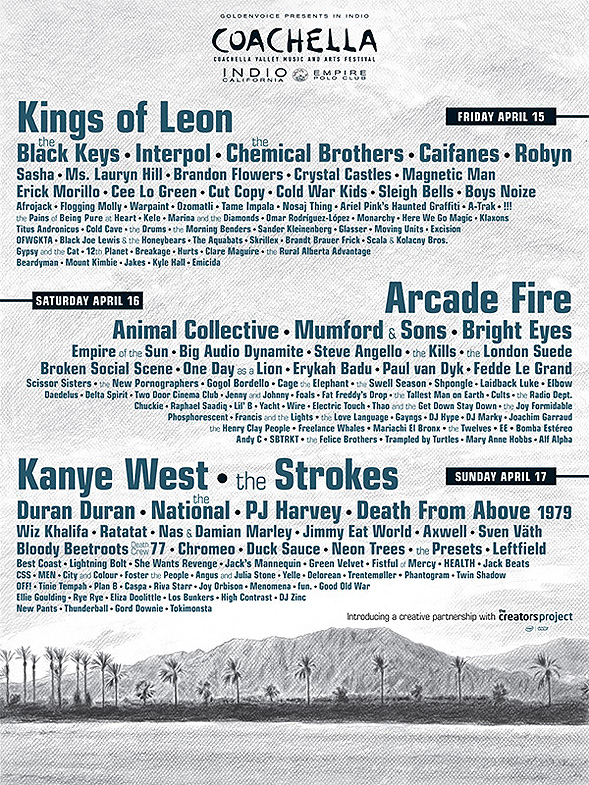 Coachella 2011 Lineup Released