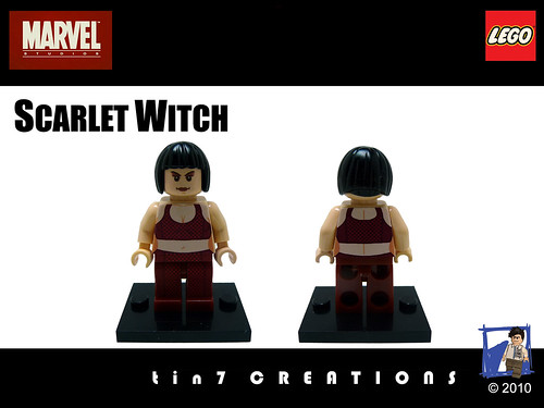 Custom minifig 56 - Scarlet Witch