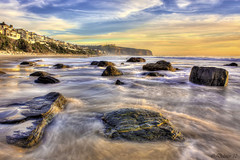 Stepping Stones (Didenze) Tags: ocean longexposure light sunset seascape rocks explore danapoint hdr saltcreek goldenhour canon450d didenze