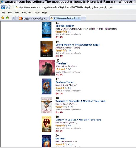That would be me at #14 and Neil Gaiman at #20