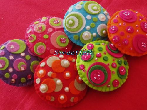 ♥♥♥ Bolinhas, bolinhas, bolinhas ... by sweetfelt \ ideias em feltro