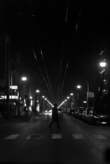 Senza meta (scarpace87) Tags: road street bw man night dark lights strada driving perspective bn via explore uomo luci notte riccione prospettiva scuro 105mmf28 guidare