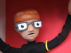 Carl's Freckles (yellowleather) Tags: red nerd illustration actionfigure glasses emma communist carl turtleneck frecles maatman emmamaatman
