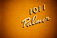 1011 Palmer - Typography Series (TooMuchFire) Tags: signs typography type lettering typeface lightroom canon30d apartmentsigns 1011epalmeraveglendaleca typographyseries