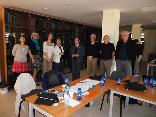 Profesores visitantes Comenius JAFP con el director provincial de Educación