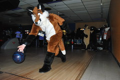 Fursuiter bowling