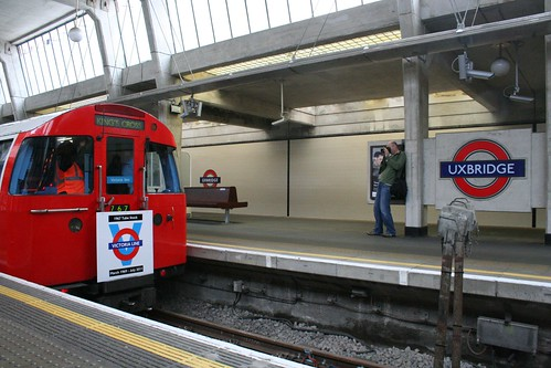 Victoria Line train at Uxbridge