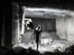 stalker-moth (Valerie Guseva) Tags: dark icm ghost ghosts bw light stone quarry adzhimushkay kerch russia crimea wwii war death catacombs 1942 history